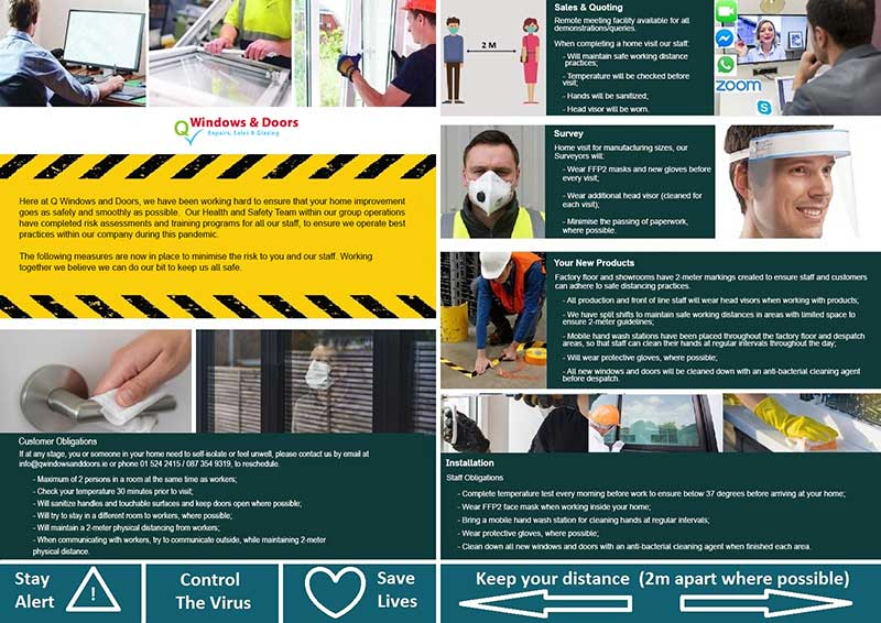 Q Windows and Doors Safe Working Practices